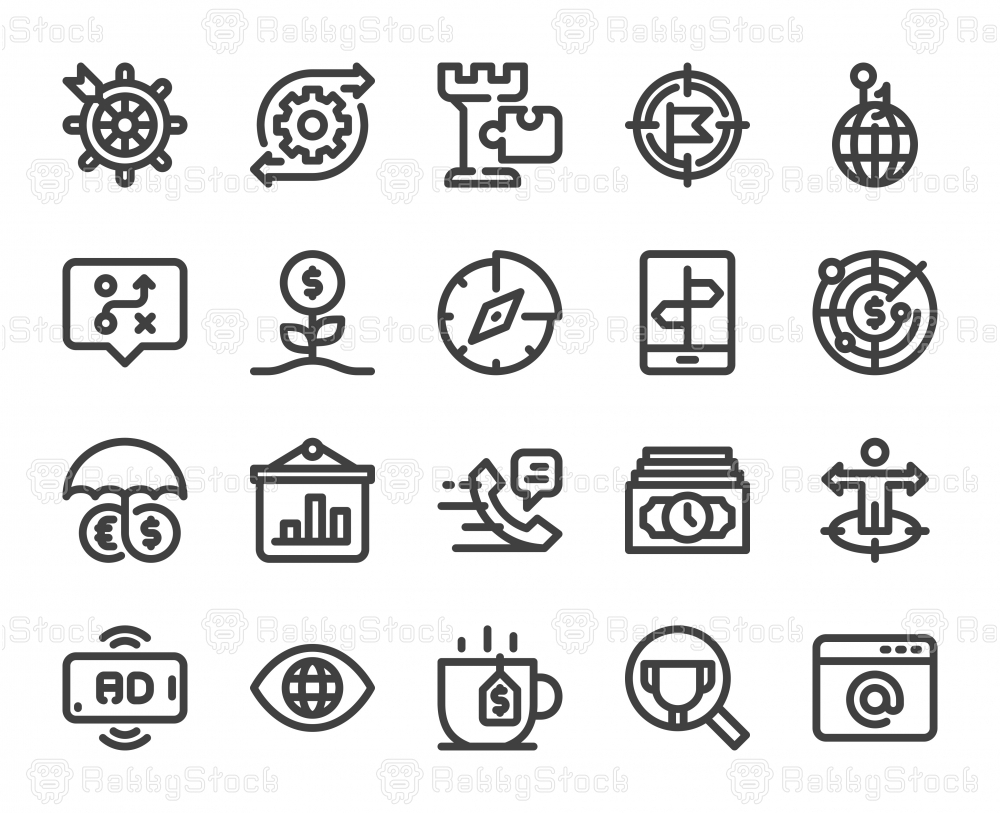 Business Strategy - Bold Line Icons