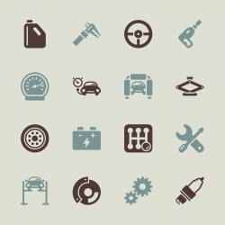 Auto Service Icons - Color Series | EPS10