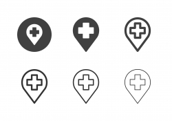 Hospital Location Icons - Multi Series