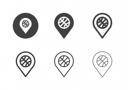 Basketball Stadium Icons - Multi Series
