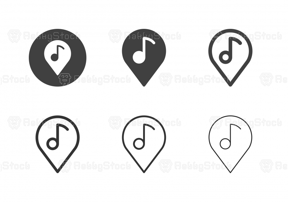 Musical Place Icons - Multi Series