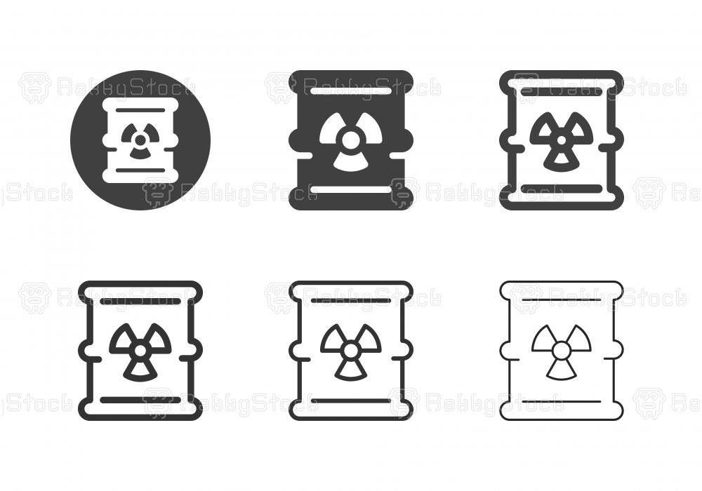 Waste Barrel Icons - Multi Series
