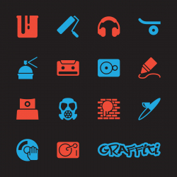 Graffiti Icons - Color Series | EPS10