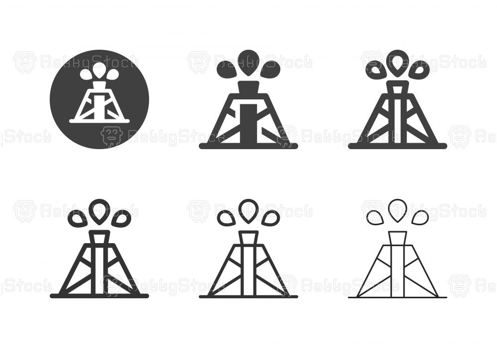 Oil Drilling Icons - Multi Series