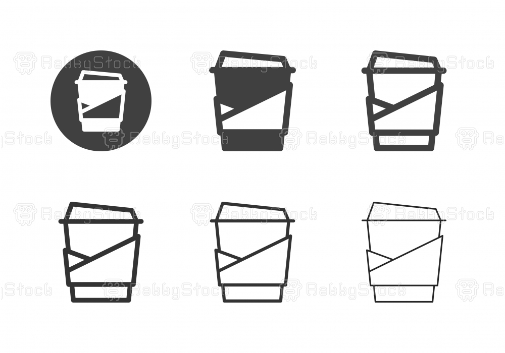 Hot Coffee Icons - Multi Series