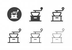 Coffee Grinder Icons - Multi Series