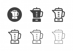Electric Blender Mixer Icons - Multi Series