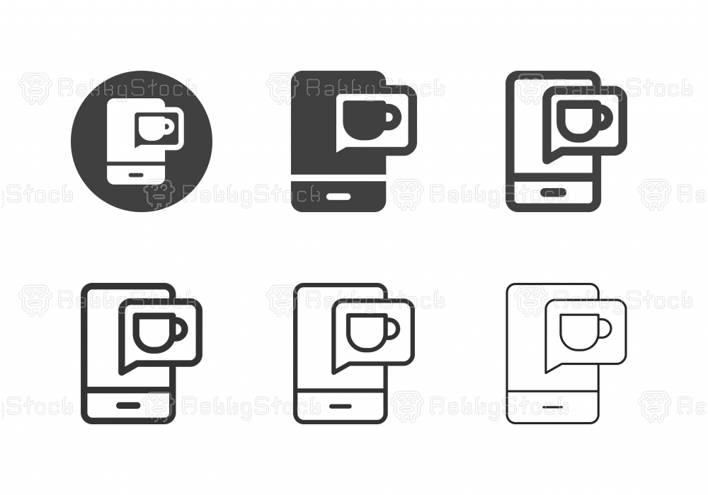Online Coffee Order Icons - Multi Series