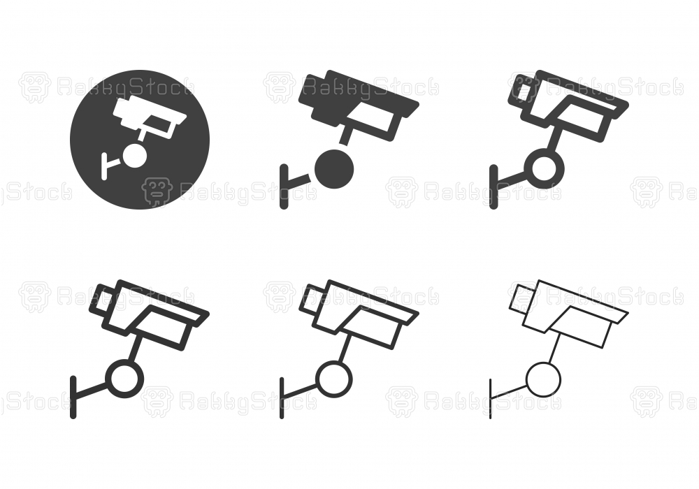 Security Camera Icons - Multi Series