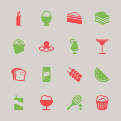 Food and Drink Icons 3 - Color Series | EPS10