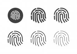 Fingerprint Icons - Multi Series