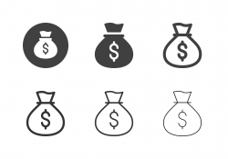 Money Bag Icons - Multi Series
