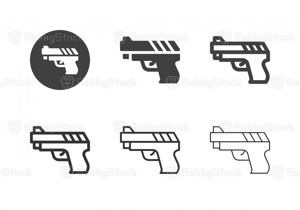 Short Gun Icons - Multi Series