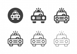 Police Car Icons - Multi Series