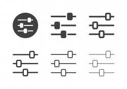 Audio Mixer Icons - Multi Series