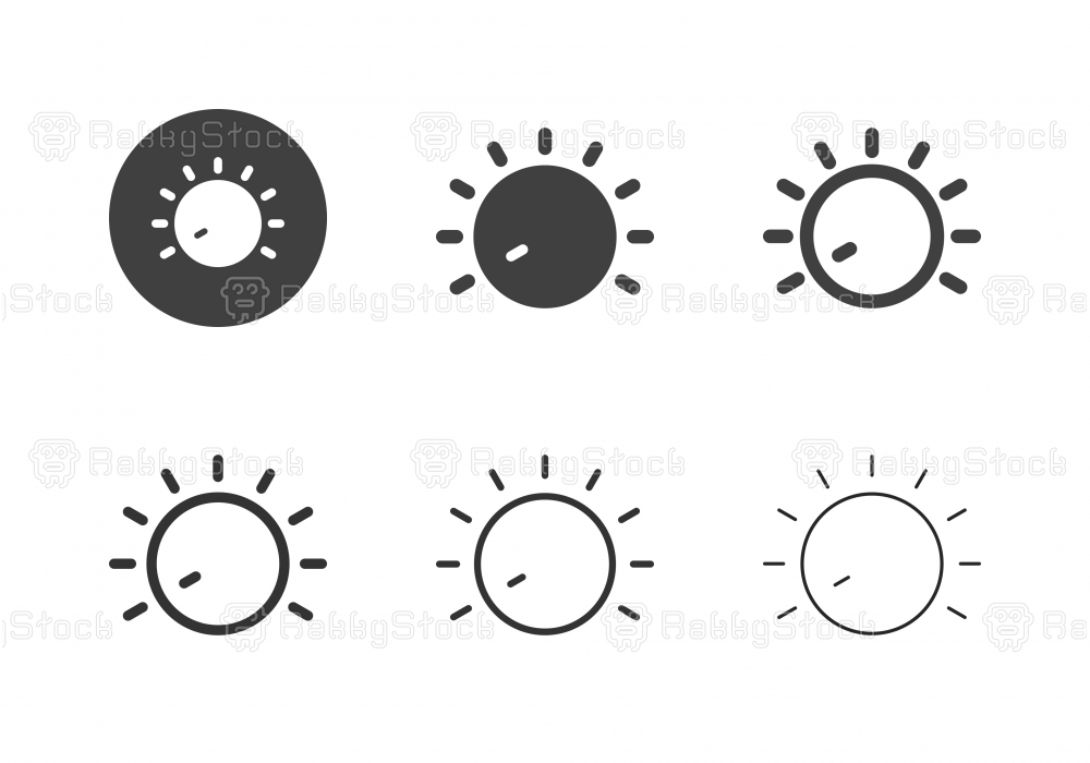 Volume Control Icons - Multi Series