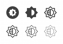 Brightness Adjustment Icons - Multi Series