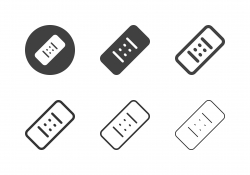 Medical Plaster Icons - Multi Series