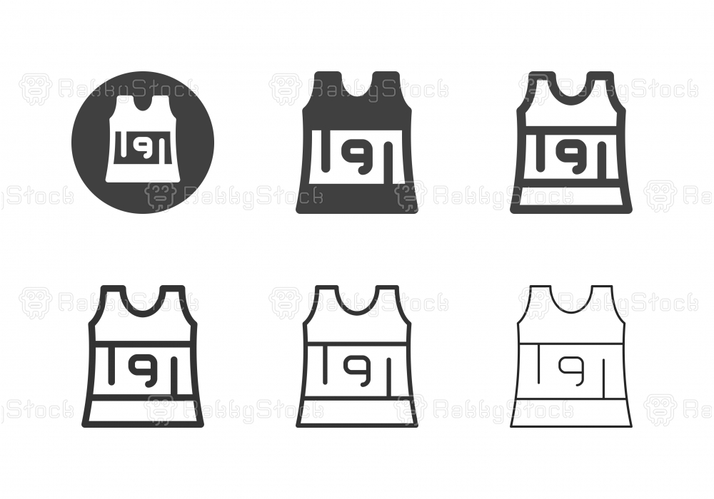 Sleeveless Running Shirt Icons - Multi Series