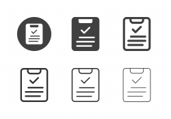 Clipboard and Checkmark Icons - Multi Series