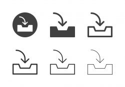 Inbox Tray Icons - Multi Series
