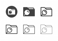 Data Searching Icons - Multi Series