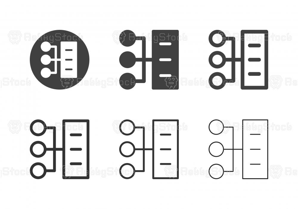 Server Network Icons - Multi Series
