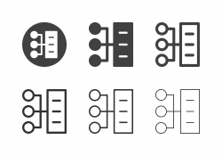 Server Network Icons - Multi Series