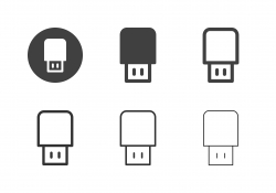 Thumb Drive Icons - Multi Series