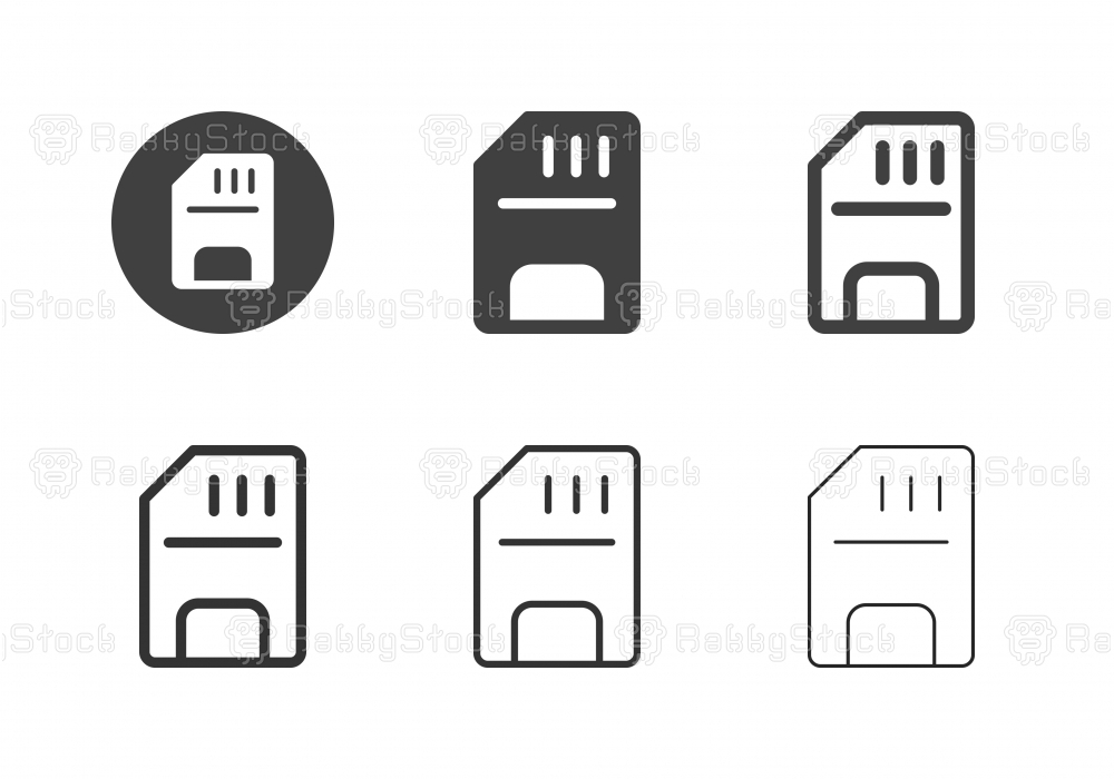 Memory Card Icons - Multi Series