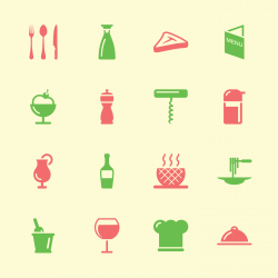 Restaurant Icons - Color Series | EPS10