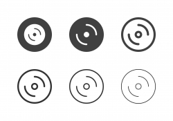 Compact Disc Icons - Multi Series