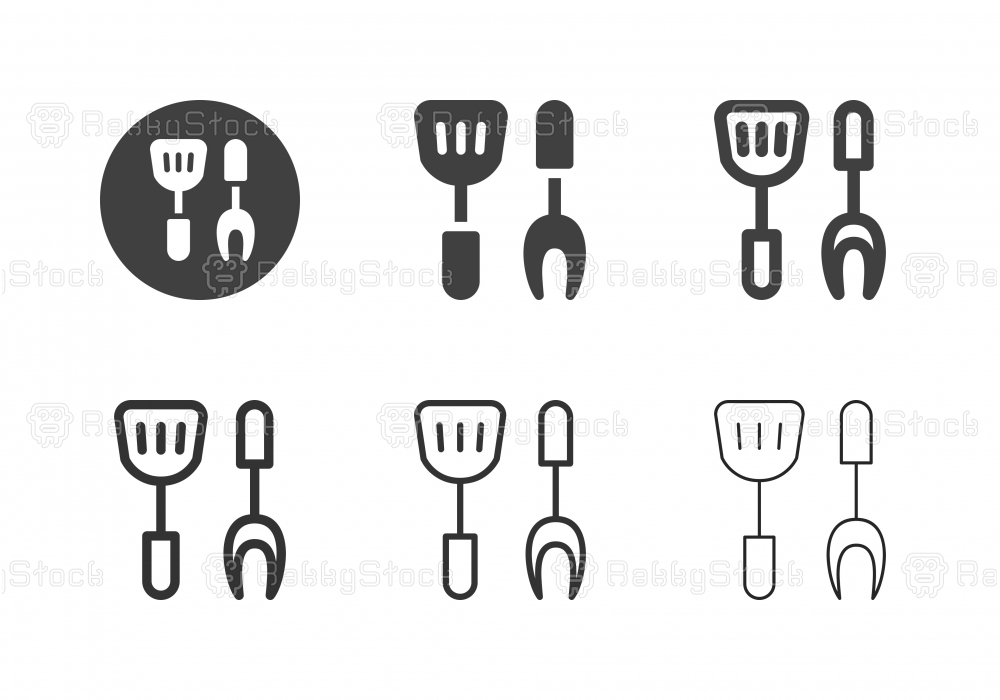 Grill Utensils Icons - Multi Series