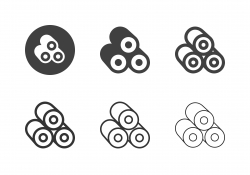 Sushi Roll Icons - Multi Series