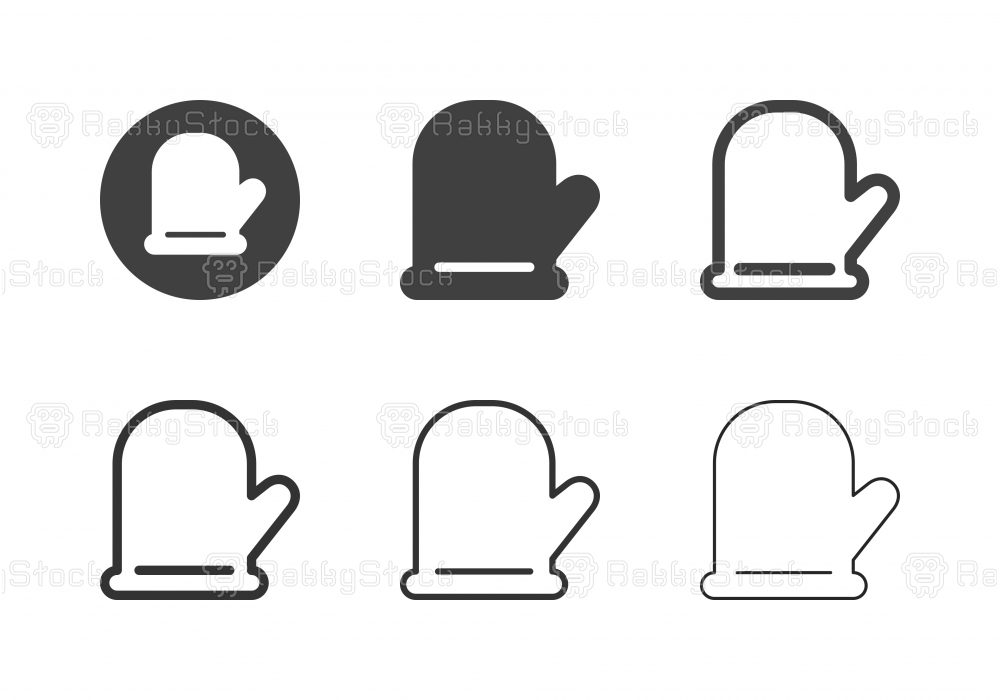 Cooking Glove Icons - Multi Series
