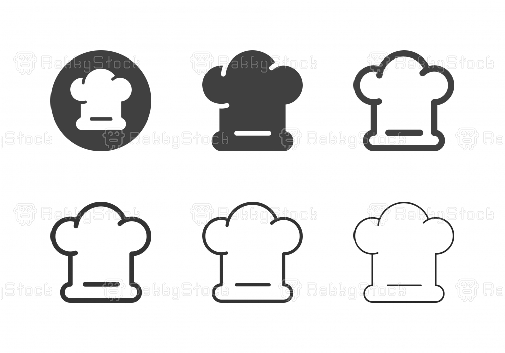 Chef Hat Icons - Multi Series