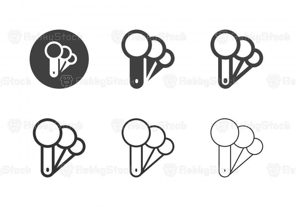 Measuring Spoon Icons - Multi Series