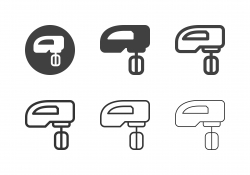 Electric Hand Mixer Icons - Multi Series