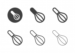 Kitchen Whisk Icons - Multi Series