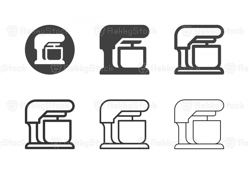 Electric Mixer Icons - Multi Series