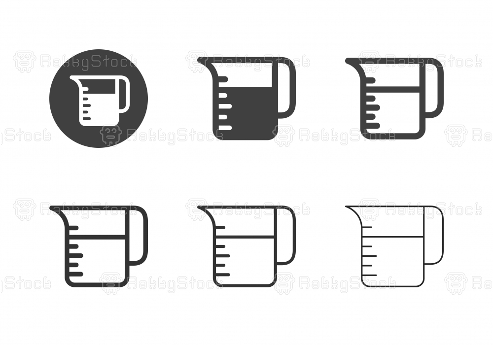 Measuring Jug Icons - Multi Series