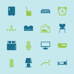 Home Interior Icons - Color Series | EPS10