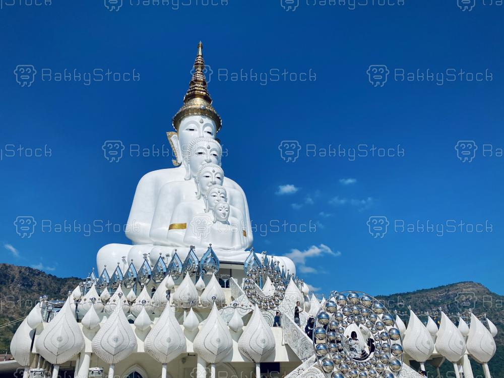 White Buddhas at Pha Son Kaew Temple