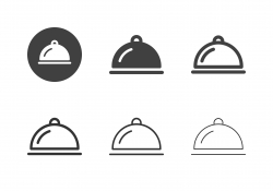 Food Serving Tray Icons - Multi Series