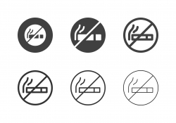 No Smoking Icons - Multi Series