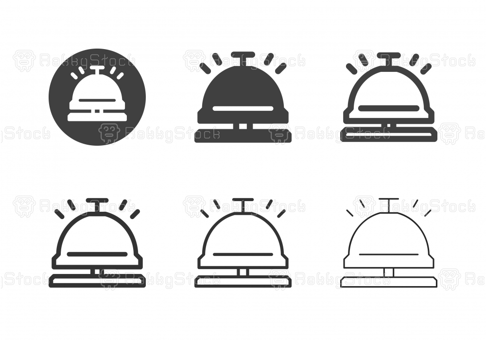 Service Bell Icons - Multi Series