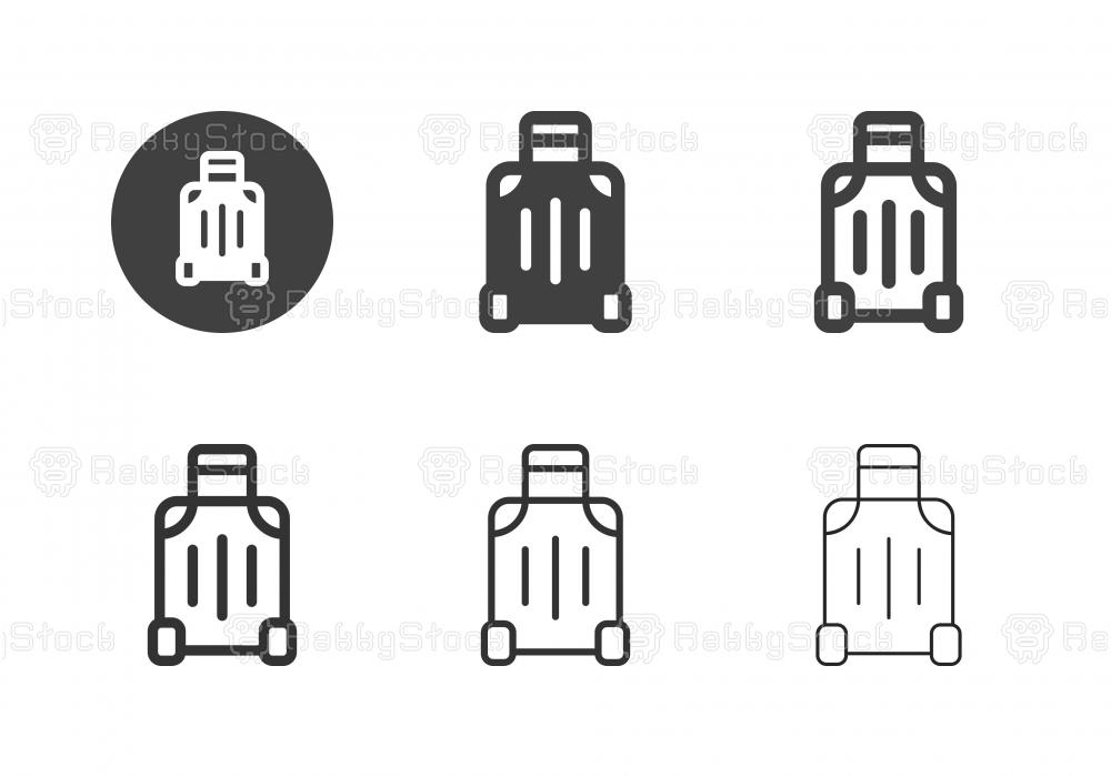 Travel Luggage Icons - Multi Series