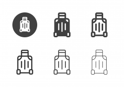 Travel Luggage Icons - Multi Series