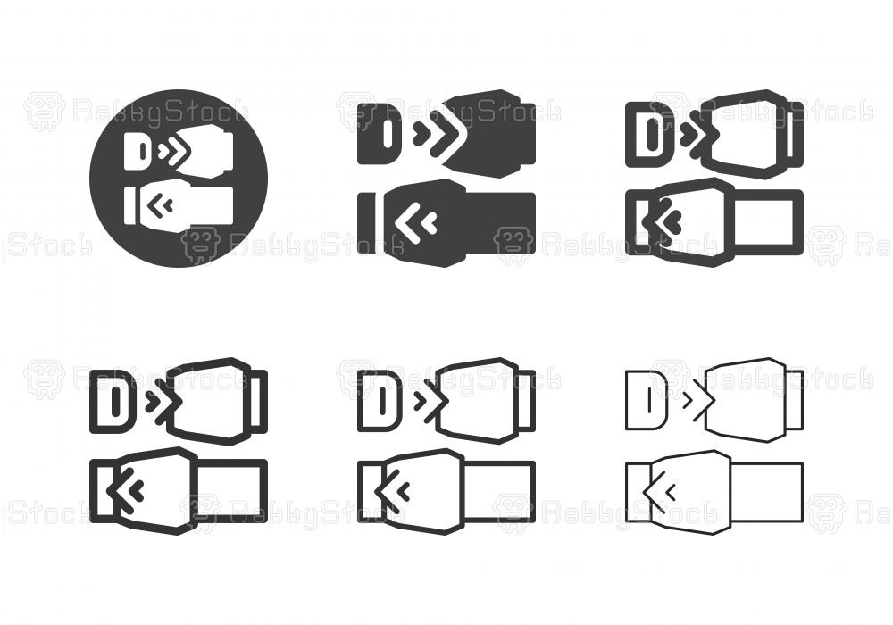 Safety Belt Icons - Multi Series