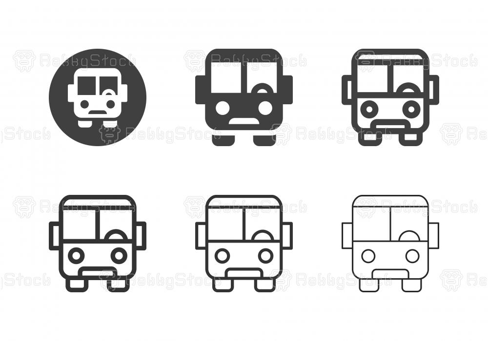 Bus Icons - Multi Series